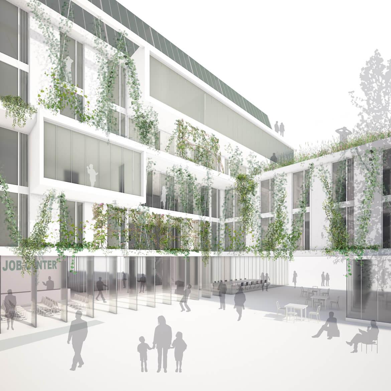 Mola Architekten › Verwaltungsgebäude mit gebäudeintegriertem ...